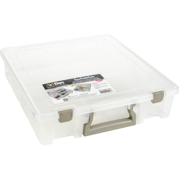 "ArtBin Super Satchel 3-15 Compartments, 15.25""X14""X3.5"", Translucent"