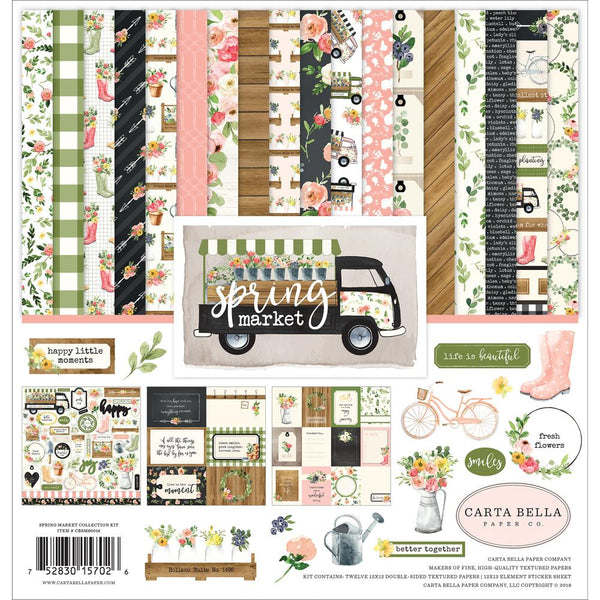 "Carta Bella Collection Kit 12""X12"", Spring Market"