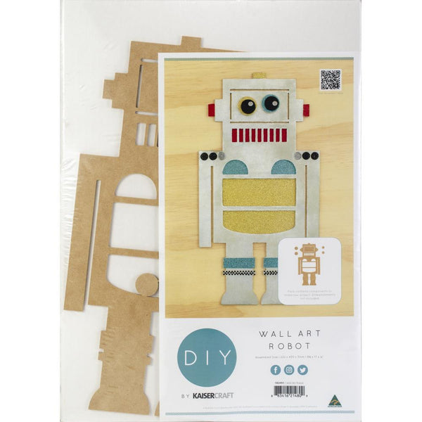 "Kaisercraft Beyond The Page MDF Robot Wall Art, 8.75""X17"""