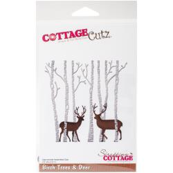 "CottageCutz Dies Birch Trees & Deer, 3.5""X3.5"" (Reserved)"