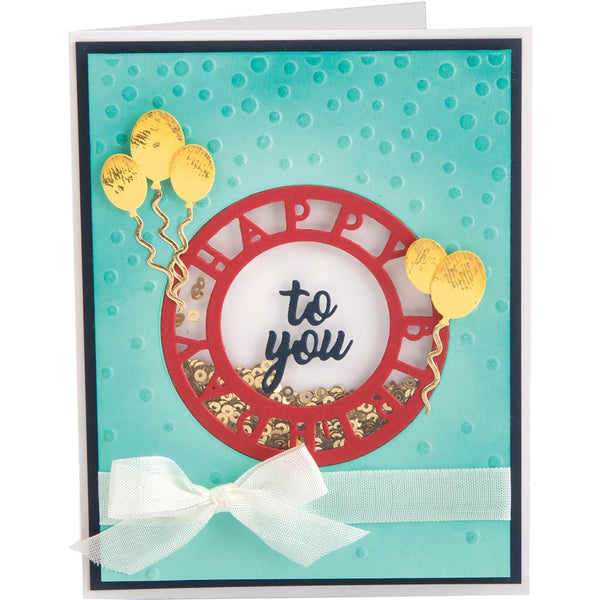 Sizzix 3D Textured Impressions By Courtney Chilson, Happy Birthday