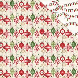 "Echo Park Paper, ""I Love Christmas"" Double-Sided Cardstock 12""X12"", Deck the Halls"