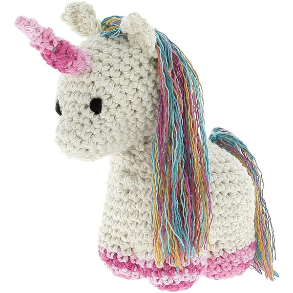 Hoooked DIY Unicorn Nora Yarn Kit W/Eco Brabante Yarn, Off White