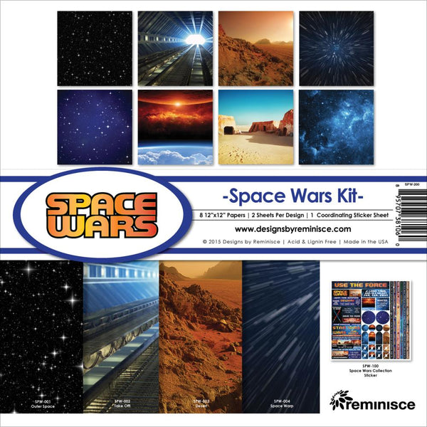 "Reminisce Collection Kit 12""X12"", Space Wars"