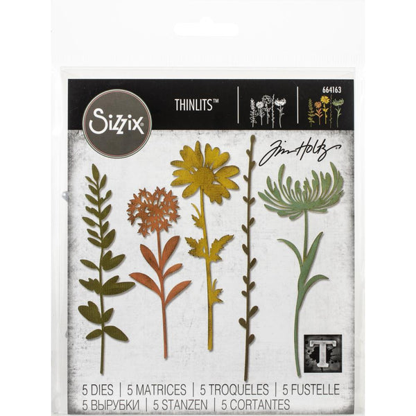 Sizzix Thinlits Dies By Tim Holtz, Wildflower Stems #1 (5 Dies)