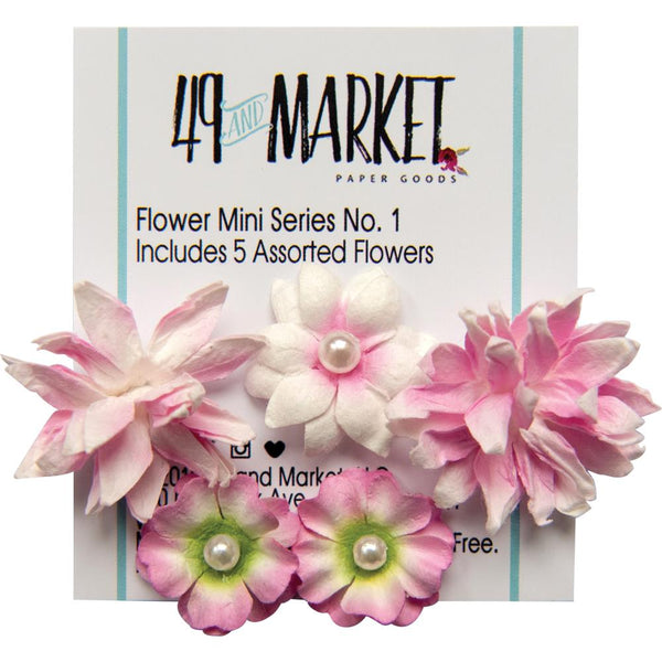 49 And Market Flower Mini Series 01, 5/Pkg, Brush
