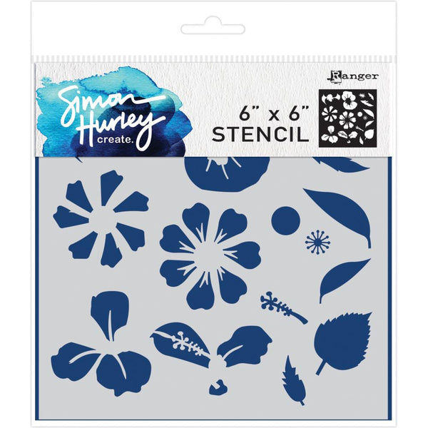 "Simon Hurley create. Stencil 6""X6"", Flower Maker"
