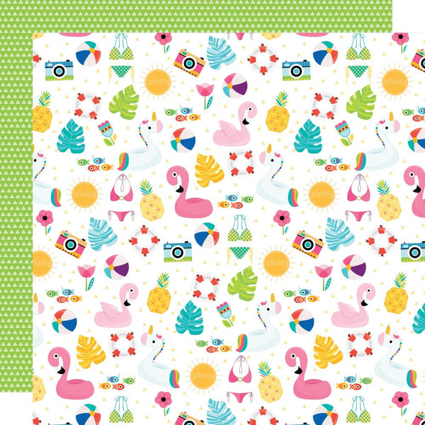 "Splash Zone Double-Sided Cardstock 12""X12"", Summer Scramble"
