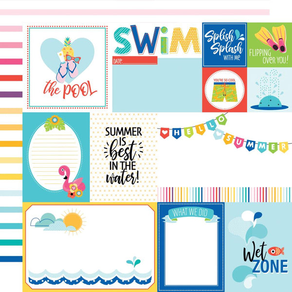 "Splash Zone Double-Sided Cardstock 12""X12"", Daily Details"