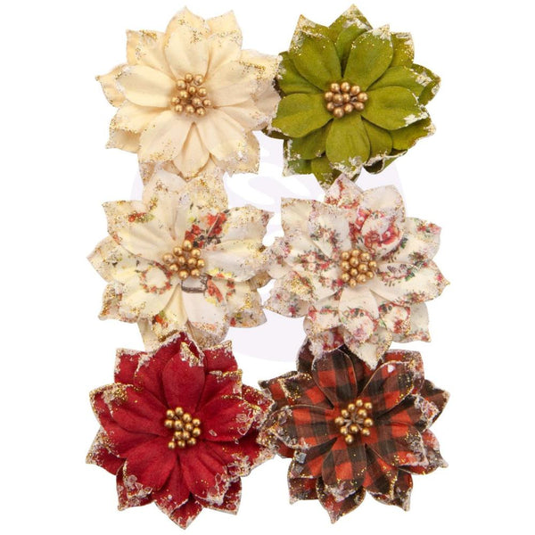 Prima Marketing Mulberry Paper Flowers, Warm Mittens/Christmas In The Country