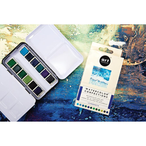 Prima Watercolor Confections Watercolor Pans 12/Pkg, Currents