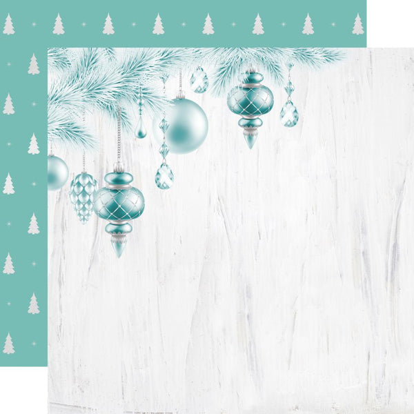 "Let It Snow, Foil Double-Sided Cardstock 12""X12"", O' Christmas Tree"