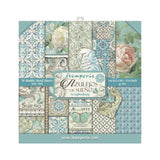 "Stamperia Double-Sided Paper Pad 8""X8"" 10/Pkg, Azulejos, 10 Designs/1 Each"