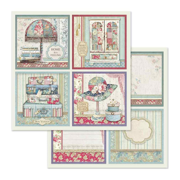 "Stamperia Double-Sided Cardstock 12""X12"", 4 Frame Decorations"