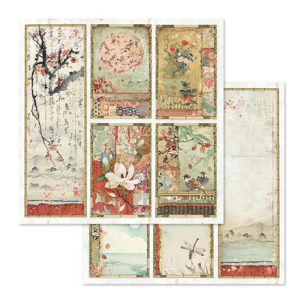 "Stamperia, Double-Sided Cardstock 12""X12"", Oriental Paintings"