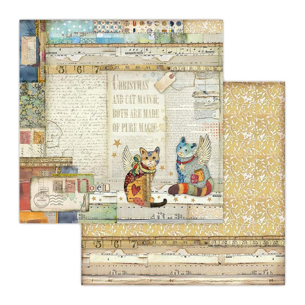 "Stamperia Double-Sided Cardstock 12""X12"", Cats"