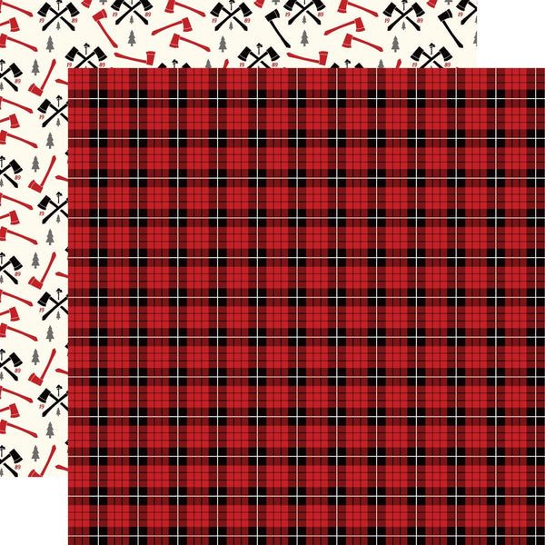 "Echo Park, Little Lumberjack Double-Sided Cardstock 12""X12"", Lumberjack Plaid"