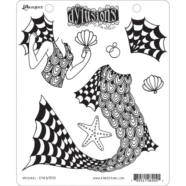 "Dyan Reaveley's Dylusions Cling Stamp Collections 8.5""X7"", Merlady"