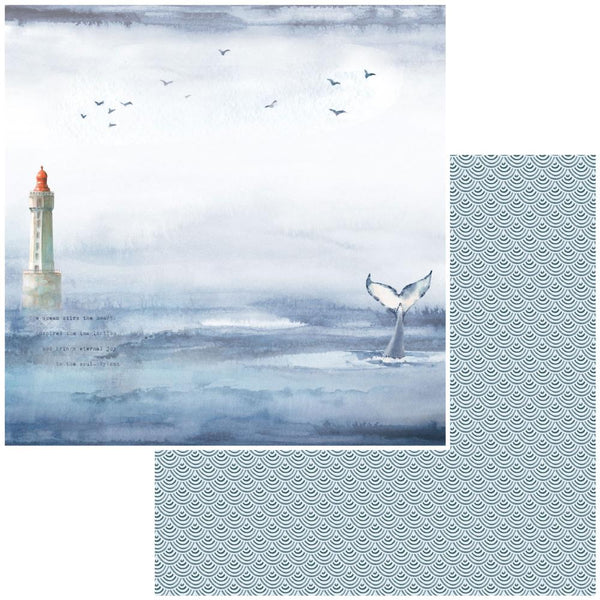 "49 and Market, Seaside Double-Sided Cardstock 12""X12"", Whales Tales"