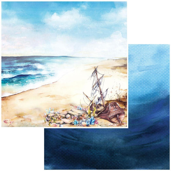 "49 and Market, Shipwreck Double-Sided Cardstock 12""X12"", Beached"