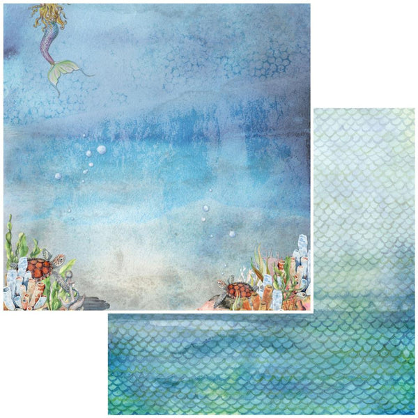 "49 and Market, Shipwreck Double-Sided Cardstock 12""X12"", Atlantis"