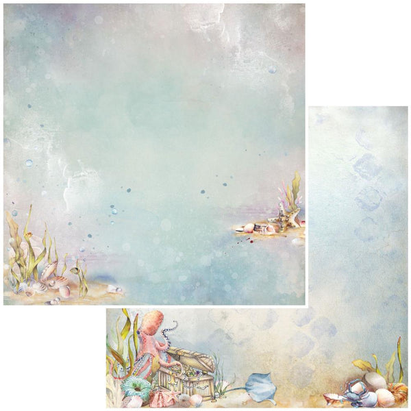 "49 and Market, Shipwreck Double-Sided Cardstock 12""X12"", Underwater Treasure"