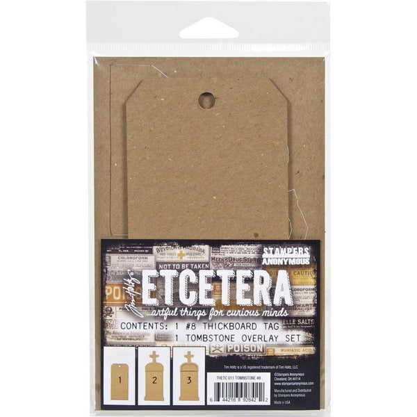 Tim Holtz Etcetera #8 Tag, Tombstone #8