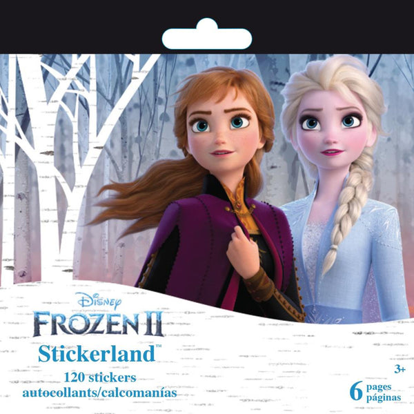 SandyLion Disney Mini Stickerland Pad, Frozen II, 6/Sheets