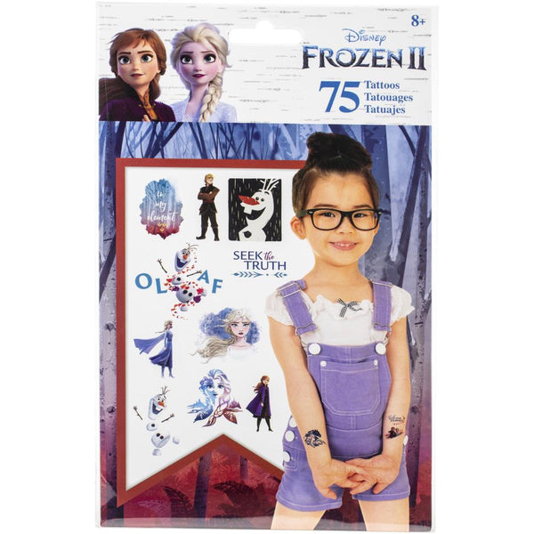 SandyLion Disney Temporary Tattoos 75/Pkg, Frozen II