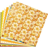 "Ciao Bella Double-Sided Paper Pack 90lb 12""X12"" 8/Pkg, The Seventies, 8 Designs/1 Each"