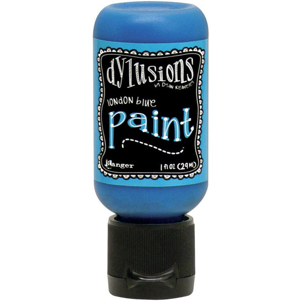 Dylusions Acrylic Paint 1oz, Flip Cap Bottle, London Blue