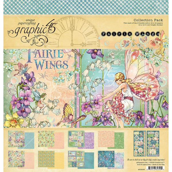 "Graphic 45, Fairie Wings, Collection Pack 12""X12"""