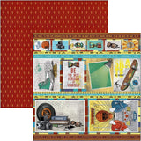 "Ciao Bella Double-Sided Paper Pack 90lb 12""X12"" 12/Pkg, Hipster, 12 Designs/1 Each"