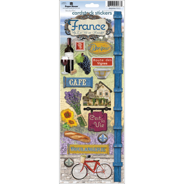 "Paper House Cardstock Stickers 4.625""X13"", France - Scrapbooking Fairies"