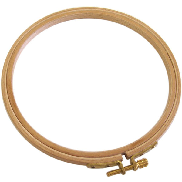 Frank A. Edmunds Hand Or Machine Embroidery Beechwood German Hoop, 8""