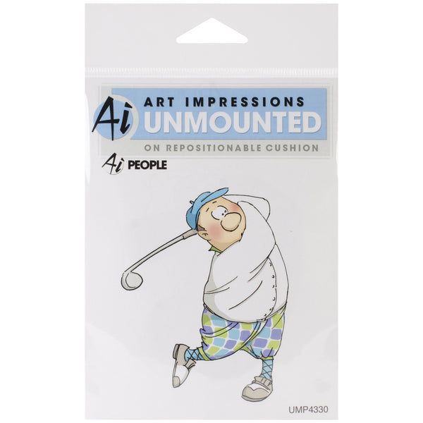 "Art Impressions,  People Cling Rubber Stamp 3.5""x2.75inch , Gordon Golfer - Scrapbooking Fairies"