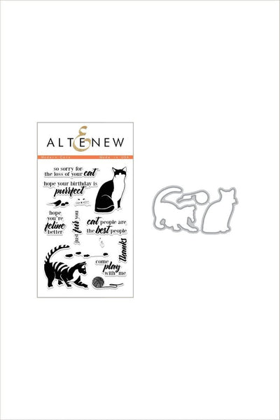 Altenew, Modern Cats Stamp & Die Bundle