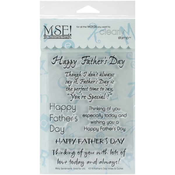 "My Sentiments Exactly Clear Stamps 4""X6"" Sheet, Father's Day - Scrapbooking Fairies"