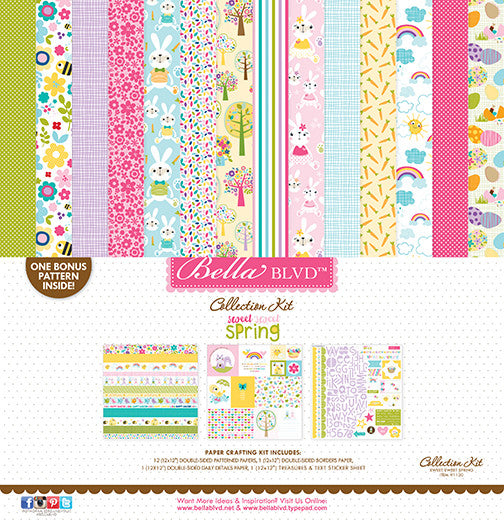 "Sweet Sweet Spring - Collection Kit 12""x12"" - Scrapbooking Fairies"