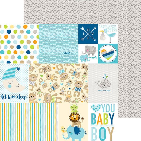 "12"" X 12"" Cute Baby Boy - Daily Details, Double-sided Paper - Scrapbooking Fairies"