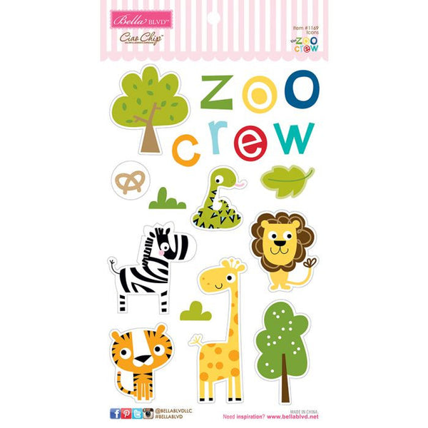 Zoo Crew - Chipboard Icons - Scrapbooking Fairies