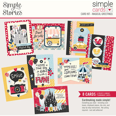 Simple Stories, Simple Card Kit, Magical Greetings/8 cards