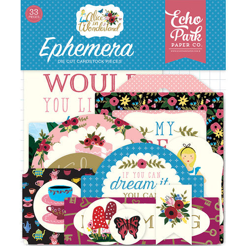 Alice In Wonderland, Cardstock Die-Cuts, 33/Pkg Icons