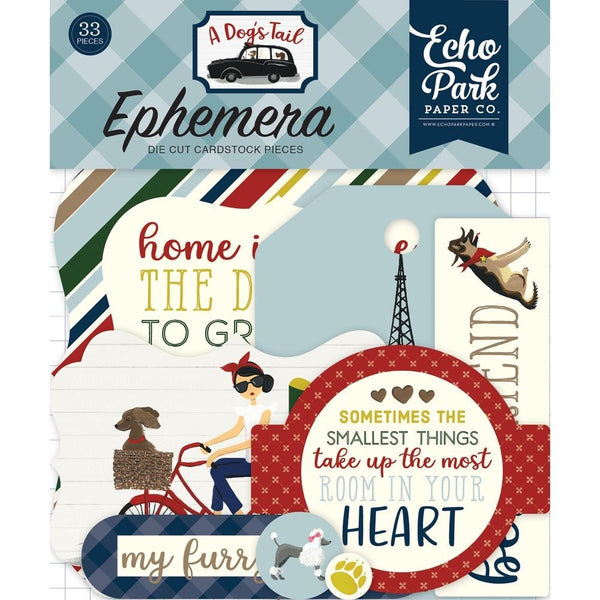 Echo Park, Ephemera Die Cut Cardstock, 33/Pkg Icons, A Dog's Tail