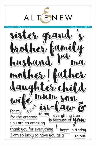Altenew, Family Matters Stamp Set - Scrapbooking Fairies
