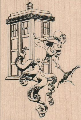 Wooden Stamp, Doctor Who by Brian Kesinger