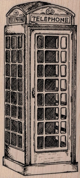 Wooden Stamp, London Telephone Booth