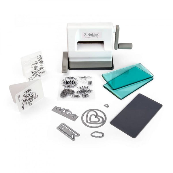 Sizzix, Sidekick Starter Kit (White & Gray) - Scrapbooking Fairies