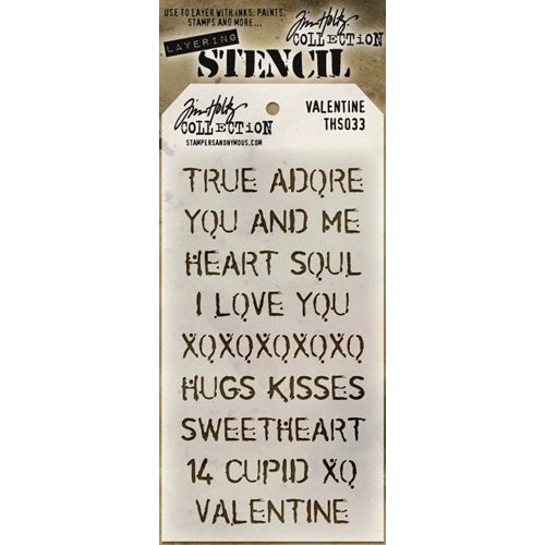 "Tim Holtz Layered Stencil 4.125""X8.5"", Valentine - Scrapbooking Fairies"