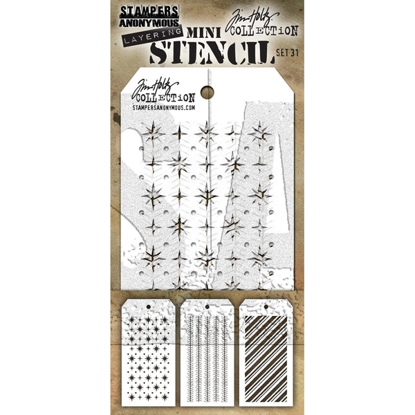 Tim Holtz, Mini Stencil Set 31